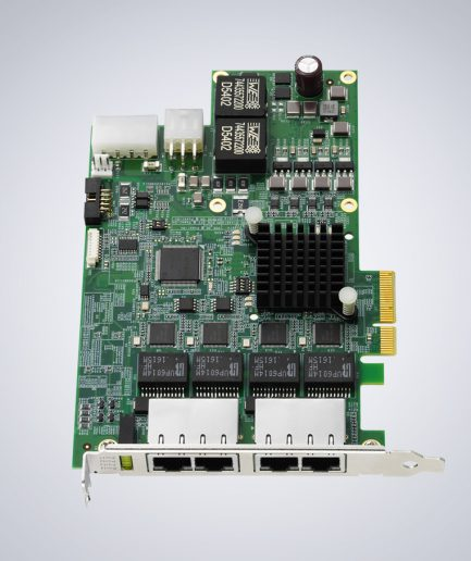 AD-Link 4-CH PCIe GigE Vision PoE+ Card