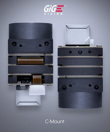 Phoenix 28x28mm C-Mount Machine Vision GigE Camera - Top Down View