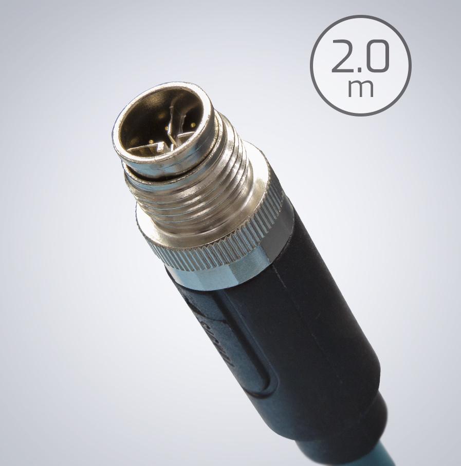 m12 ip67 2m 以太网数据电缆