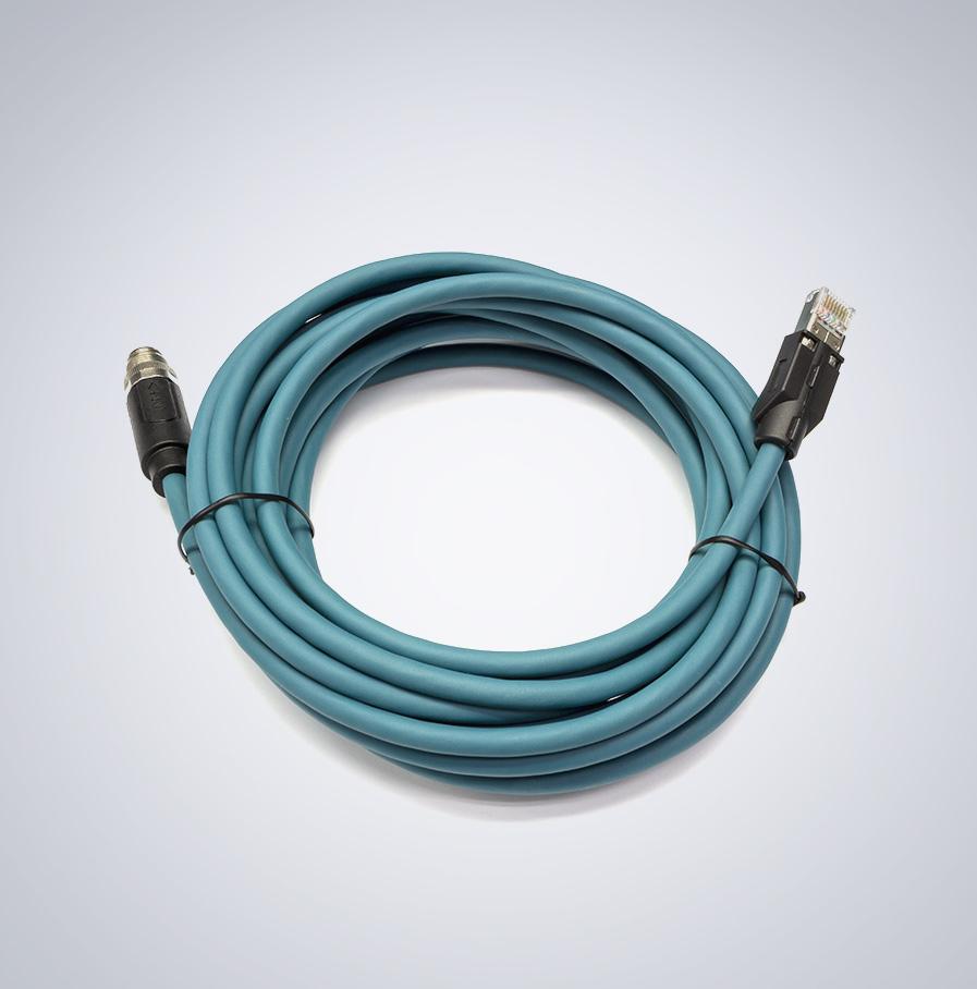 m12 ip67 5m 以太网数据电缆