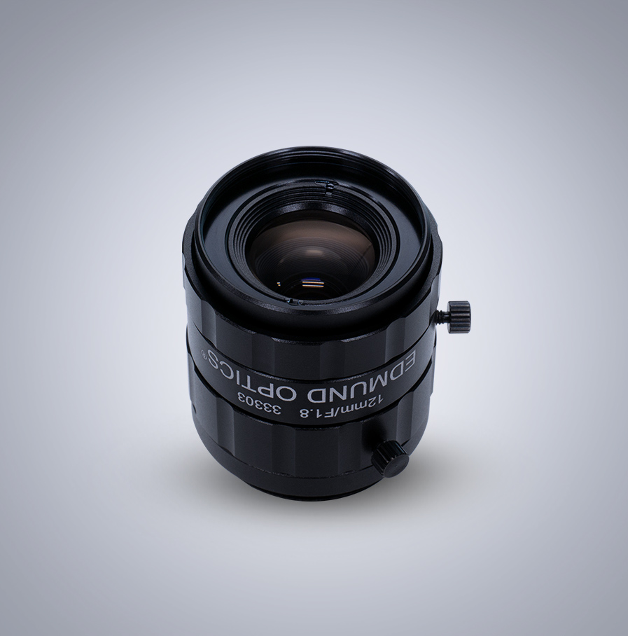 Edmund Optics C-Mount 1/1.8″ 12mm f/1.8 (UC Series) 镜头