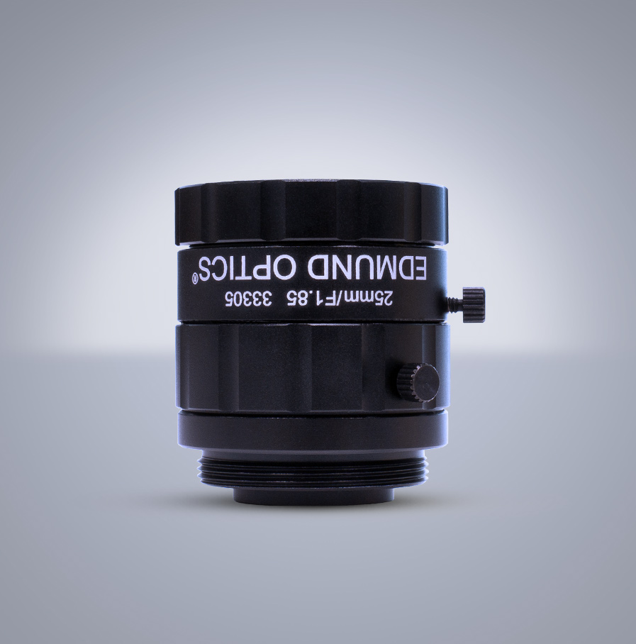 Edmund Optics C-Mount 1/1.8″ 25mm f/1.85 (UC Series) 镜头