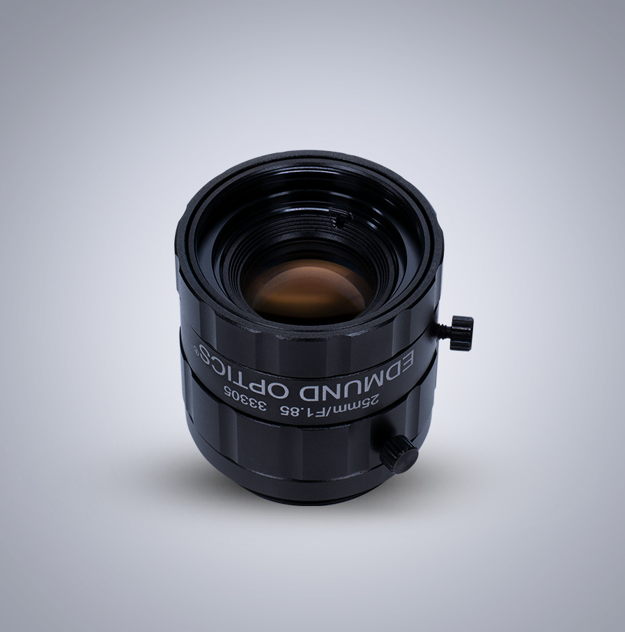 Edmund Optics C-Mount 1/1.8″ 25mm f/1.85 (UC Series) 镜头
