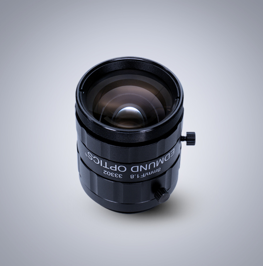 Edmund Optics C-Mount 1/2″ 8mm f/1.8 (UC Series 镜头)