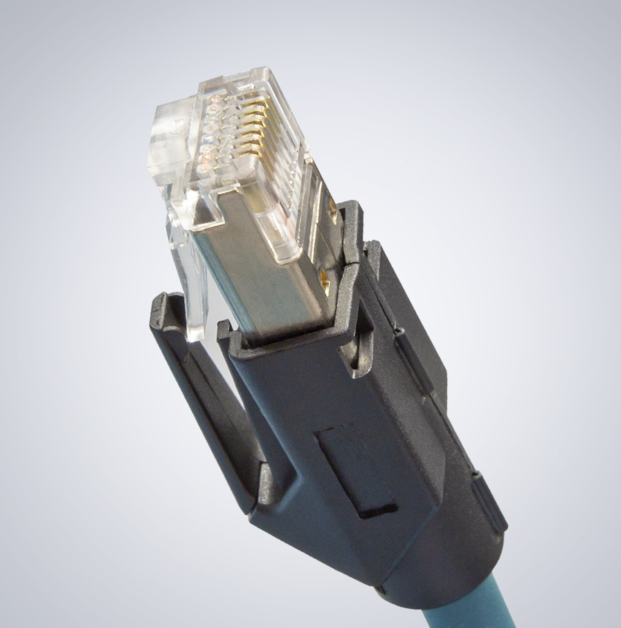 CAB-MR-5M-15M-RA2 Right Angle M12 Cable Ethernet