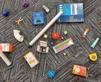 地毯上的各种物体。3D点云